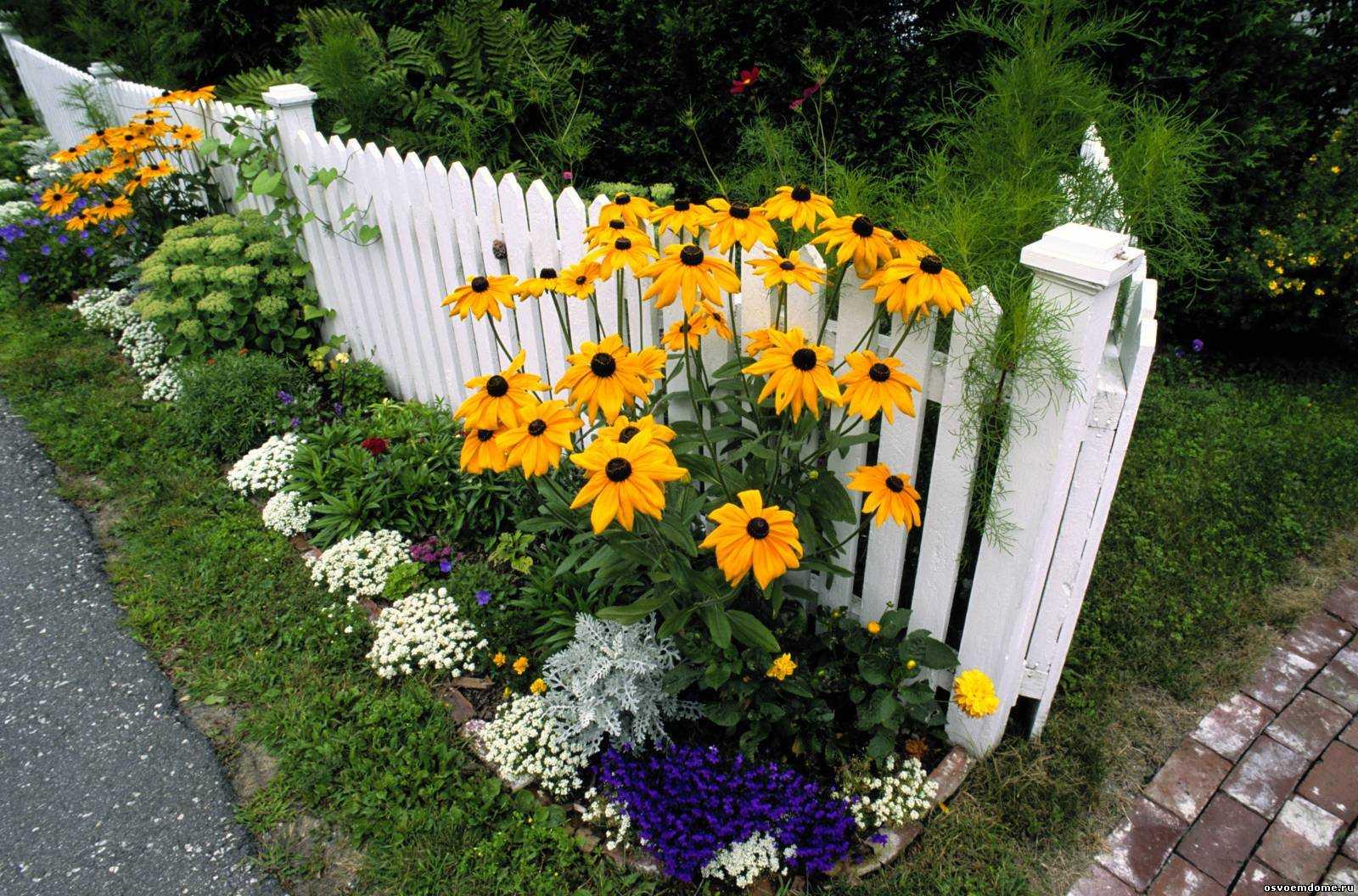 belle création de la conception d'un chalet d'été avec des fleurs