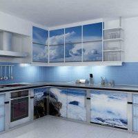 skaists dzīvokļa dekors zilā krāsā