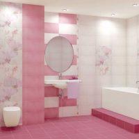 gaiši rozā kombinācija guļamistabas dizainā ar citu krāsu attēlu