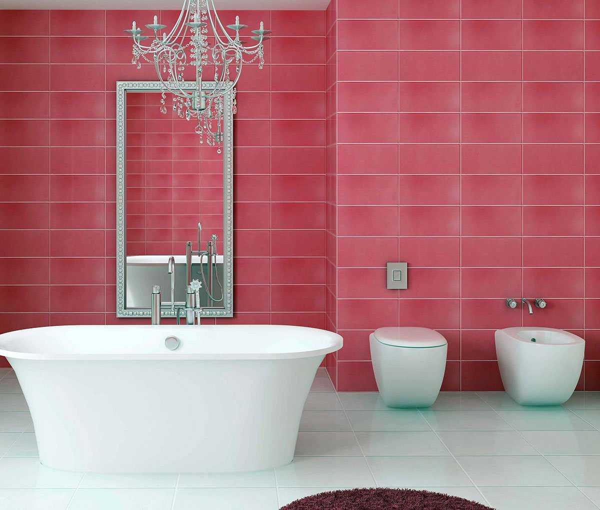 spilgti rozā kombinācija guļamistabas dizainā ar citām krāsām