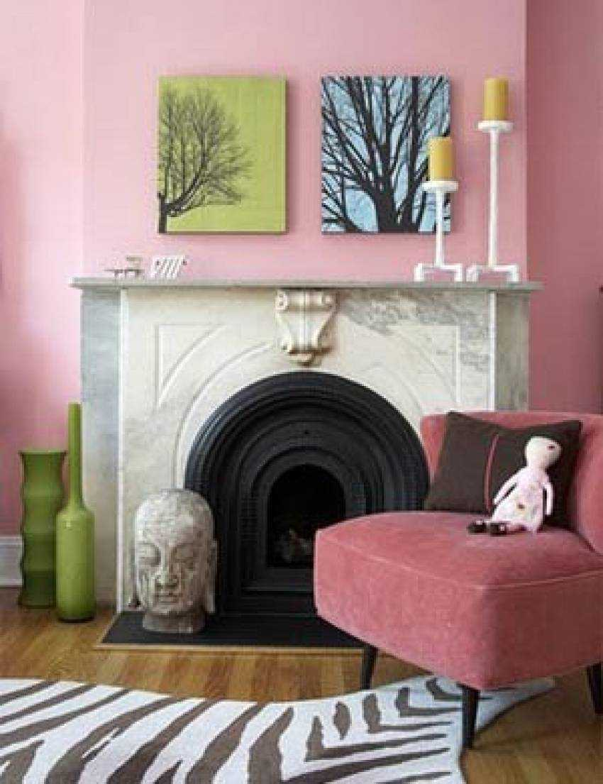 spilgti rozā kombinācija virtuves stilā ar citām krāsām