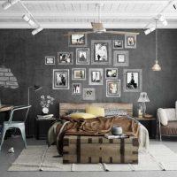 kombinacija svijetlo sive boje u unutrašnjosti slike stana