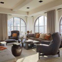 kombinacija svijetlo sive u stilu slike dnevne sobe