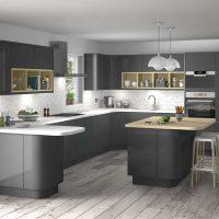 kombinacija tamno sive boje u dizajnu slike kuće