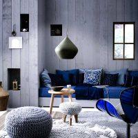 kombinacija svijetlo sive boje u unutrašnjosti fotografije dnevnog boravka