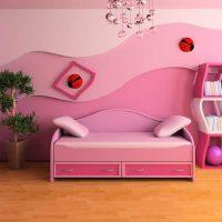gaiši rozā kombinācija dzīvokļa dizainā ar citu krāsu foto