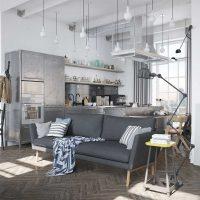 kombinacija tamno sive boje u stilu fotografije dnevne sobe