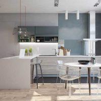 kombinacija svijetlo sive boje u dizajnu slike spavaće sobe
