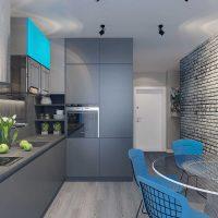 kombinacija svijetlo sive boje u unutrašnjosti fotografije stana