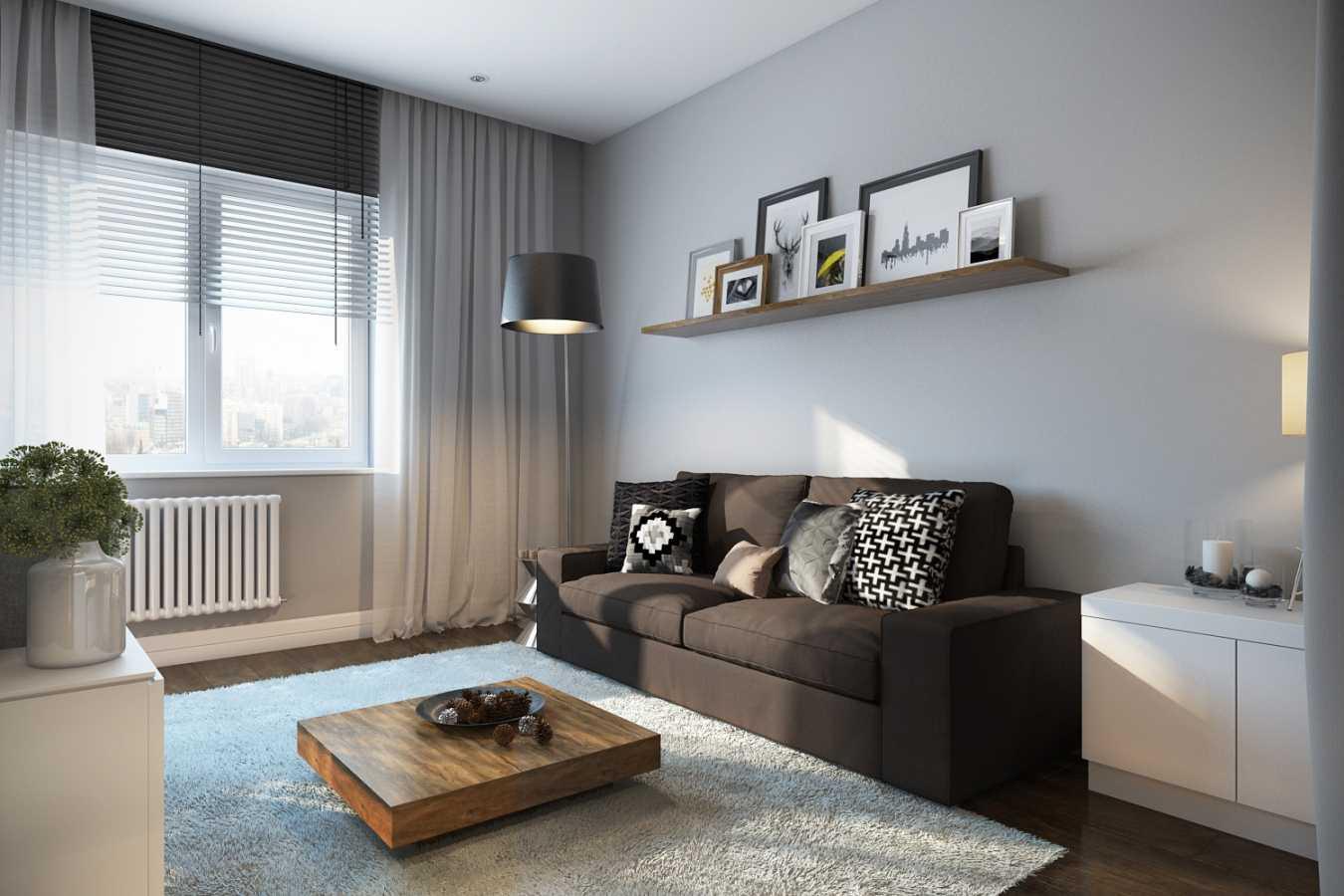 kombinacija tamno sive u stilu stana