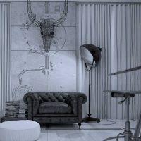 kombinacija tamno sive u stilu slike stana