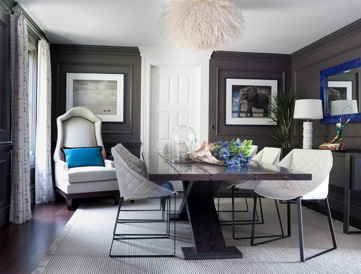 kombinacija tamno sive boje u dekoru stana