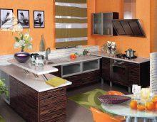 combinaison de couleurs claires dans le décor de la cuisine photo