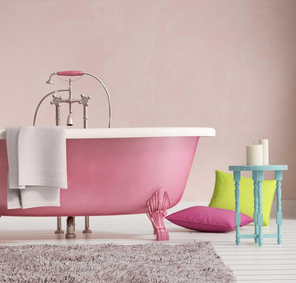 tumši rozā kombinācija guļamistabas dizainā ar citām krāsām