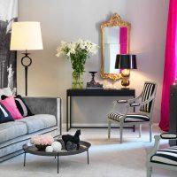 gaiši rozā kombinācija guļamistabas dekorā ar citām fotoattēla krāsām