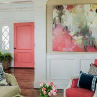 spilgti rozā kombinācija virtuves stilā ar citu krāsu attēlu