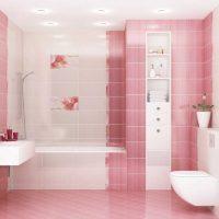 gaiši rozā istabas stila kombinācija ar citām fotoattēla krāsām