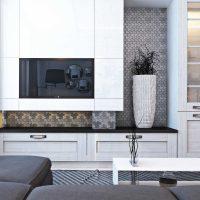 kombinacija svijetlo sive boje u unutrašnjosti fotografije kuće