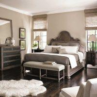 kombinacija svijetlo sive u stilu slike spavaće sobe