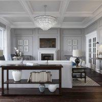 kombinacija tamno sive boje u dekoru fotografije stana