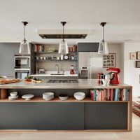 kombinacija svijetlo sive boje u dizajnu slike dnevne sobe