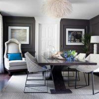 kombinacija svijetlo sive u stilu fotografije dnevne sobe