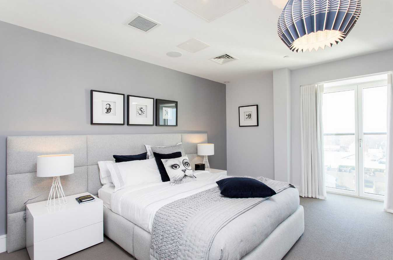 kombinacija tamno sive boje u dizajnu dnevne sobe