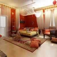 skaista istabas fasāde austrumu stila fotoattēlā