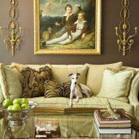 neparasta Viktorijas laikmeta stila dzīvokļa dekoru bilde