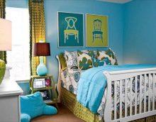 skaists dzīvokļa stils zilā krāsā