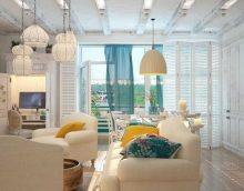 neparasts vidusjūras stila dzīvokļa attēla dizains