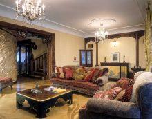 salon intérieur inhabituel dans l'image de style moderne