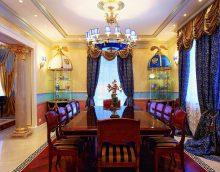 impērijas stila dzīvokļa attēla gaišs dekors