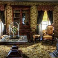 gaišs viesistabas stila viktoriāņu stila foto