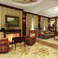 spilgts viktoriāņu stila viesistabas interjera foto