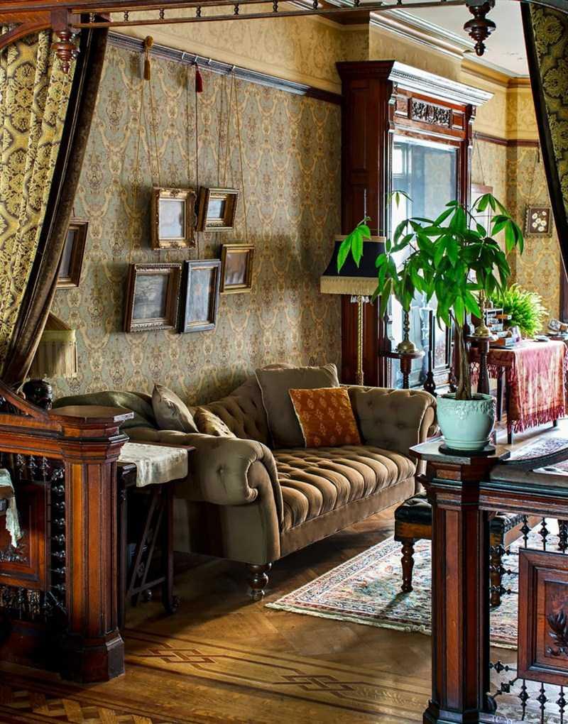 neparasts Viktorijas laikmeta stila dzīvokļa dizains