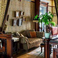 skaists viktoriāņu stila istabas interjera foto