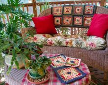 couvertures tricotées dans la conception de la photo de l'appartement