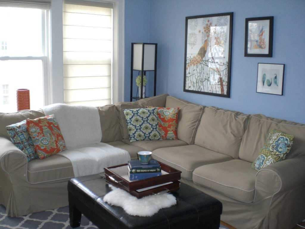 skaists dzīvokļa dizains zilā krāsā