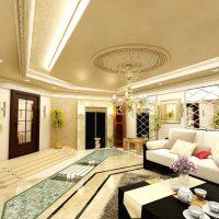 moderna stila istaba austrumu stila attēlā