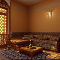 skaists istabas dizains austrumu stila attēlā