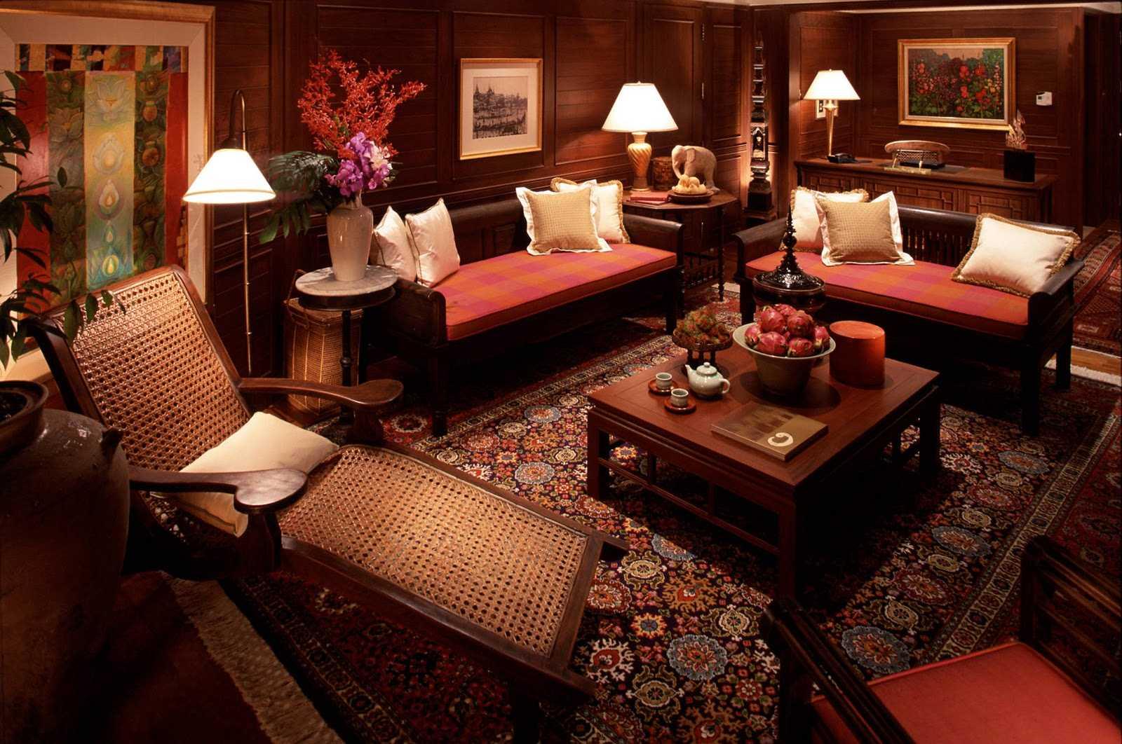 skaists guļamistabas interjers austrumu stilā
