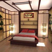 gaiša guļamistabas fasāde austrumu stila fotoattēlā