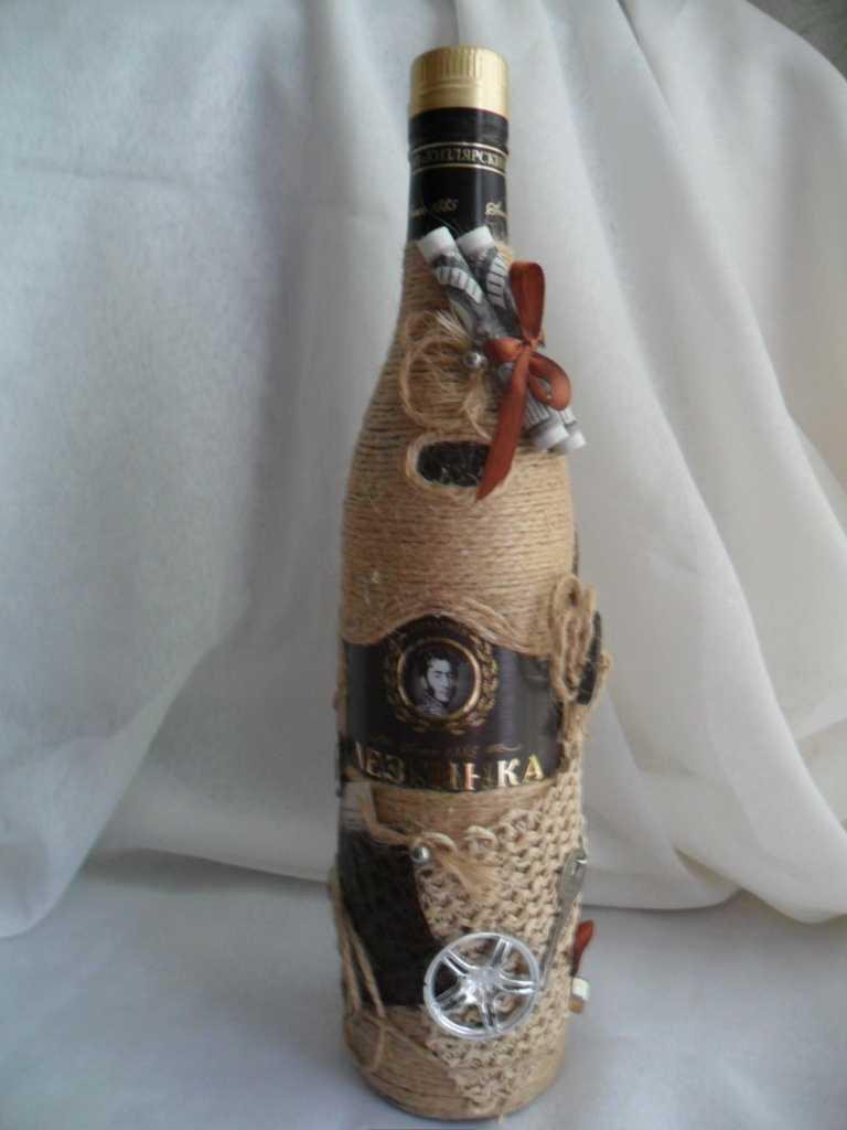 décoration de bouteille lumineuse pour la conception de la pièce