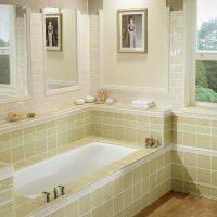 vannas istabas oriģinālā stila versija dzīvokļa fotoattēlā