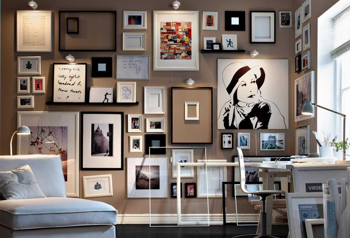 ideja par skaistu sienu dekorēšanu telpās