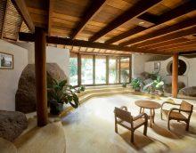l'idée d'un bel intérieur cottages dans une image d'arbre