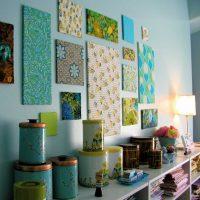 ideja par neparastu sienas dekorēšanu fotoattēla telpās