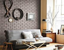 skaistas sienas dekorācijas variants viesistabas fotoattēlā