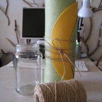ideja par grīdas vāzes attēla spilgtu dekorēšanu